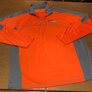 Antigua NFL DENVER BRONCOS 1/4 Zip Shirt XL